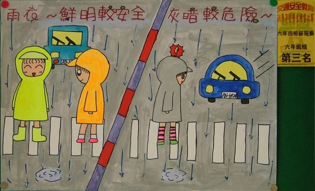 关于交通安全的简笔画
