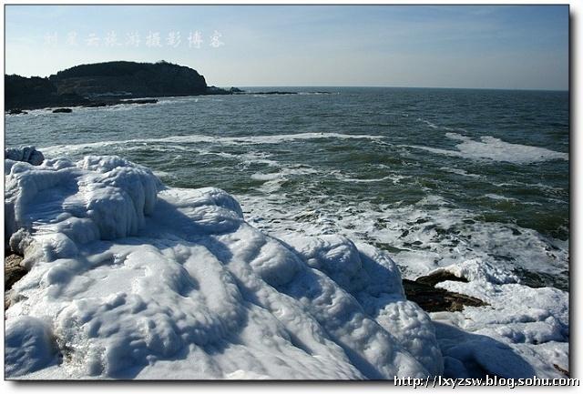 山东胶东半岛沿岸壮观海冰世界实拍